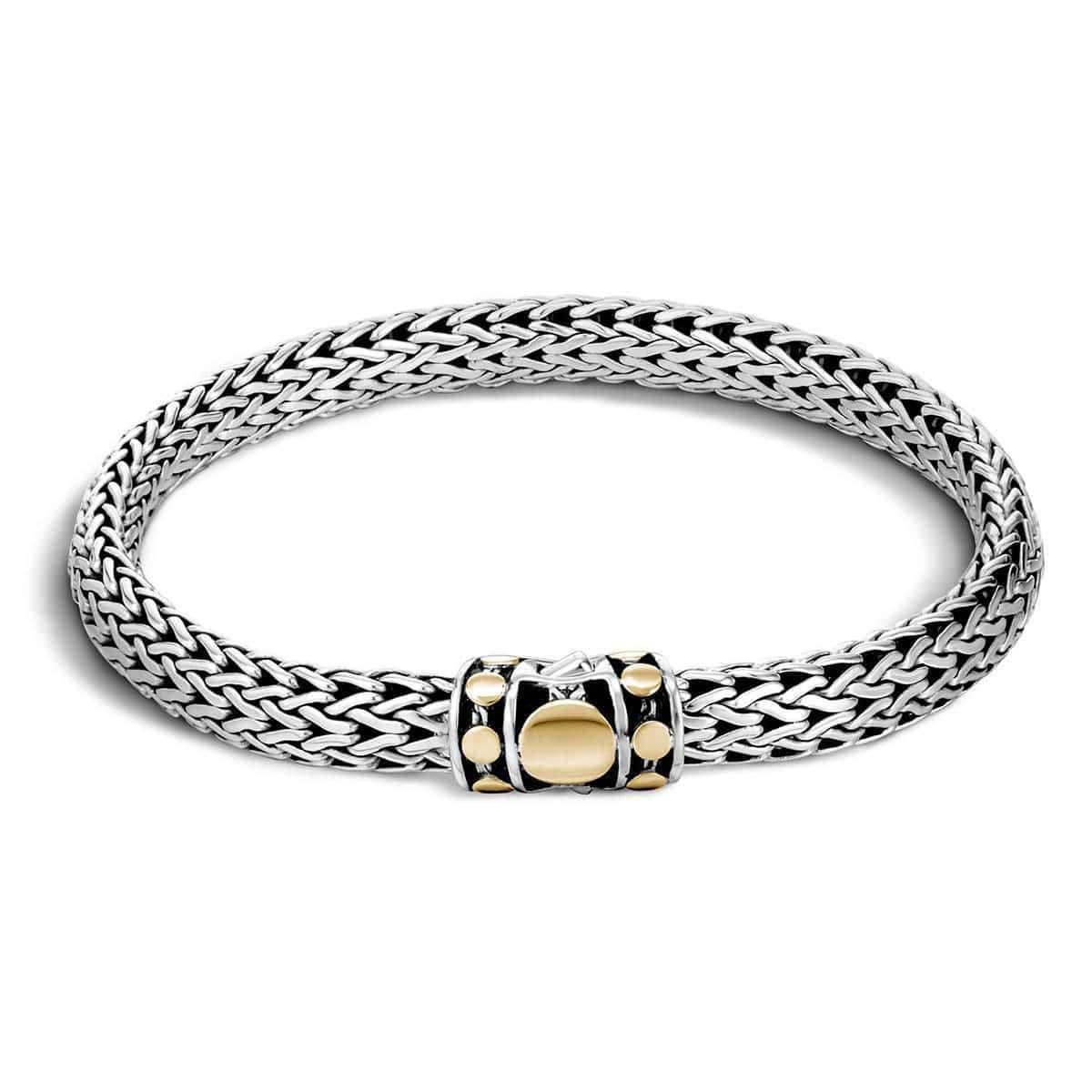 Dot Deco Gold Silver Small Bracelet - BZ33666