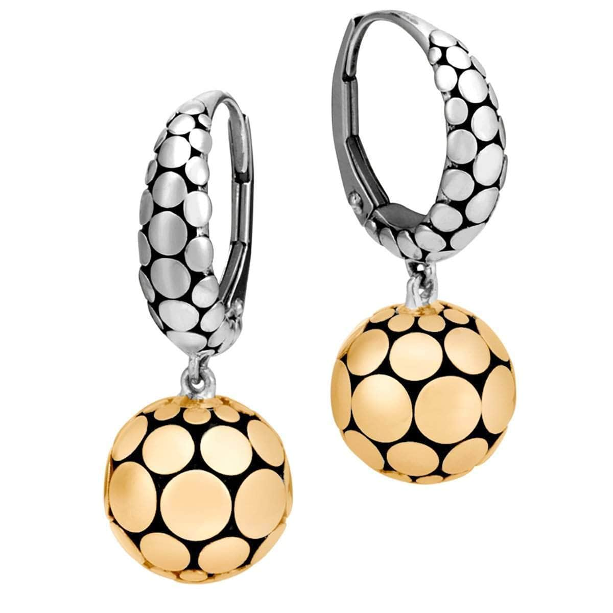 Dot Gold Silver Drop Earrings - EZ39243-John Hardy-Renee Taylor Gallery