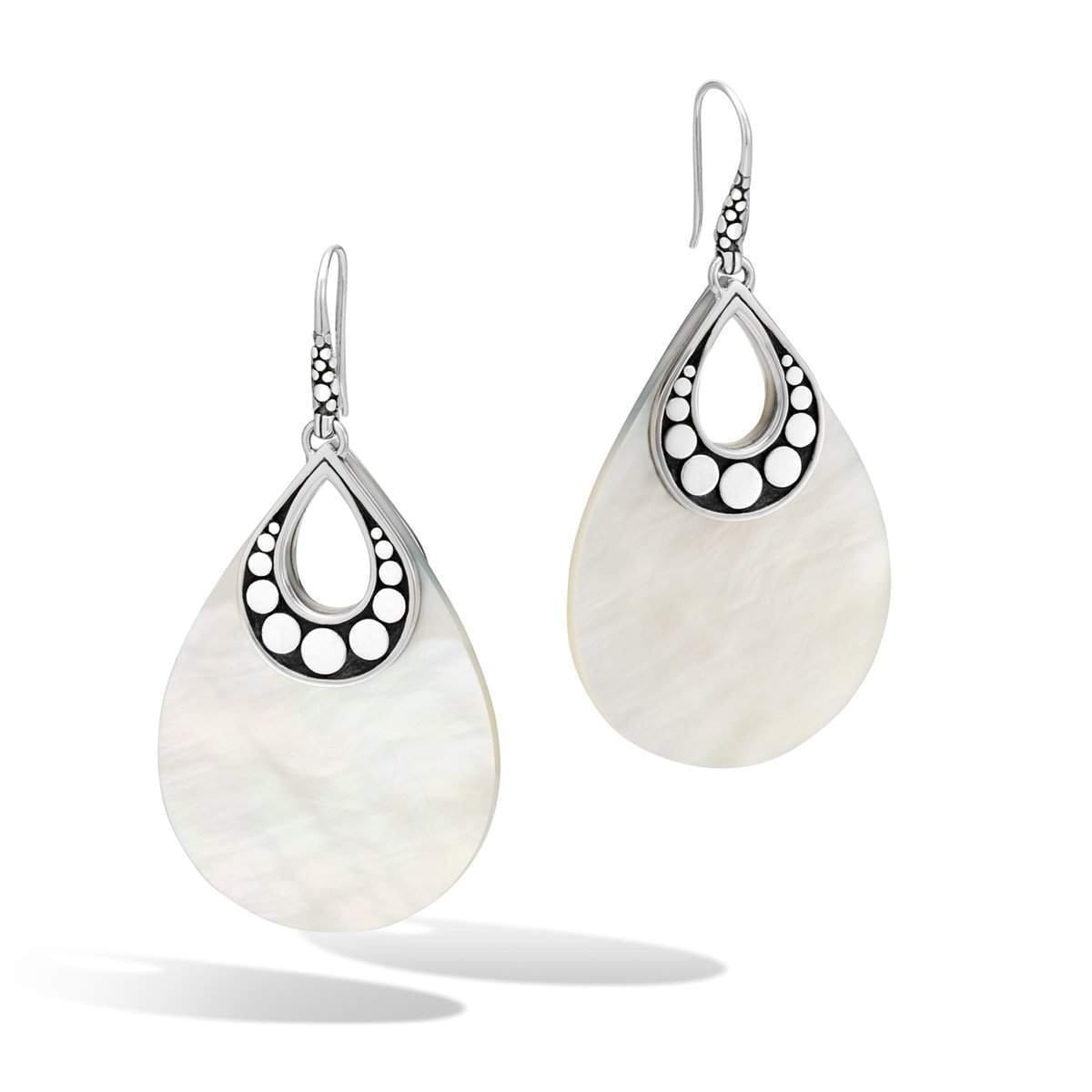 Dot Silver Mother of Pearl Earrings - EBS3909MOP-John Hardy-Renee Taylor Gallery