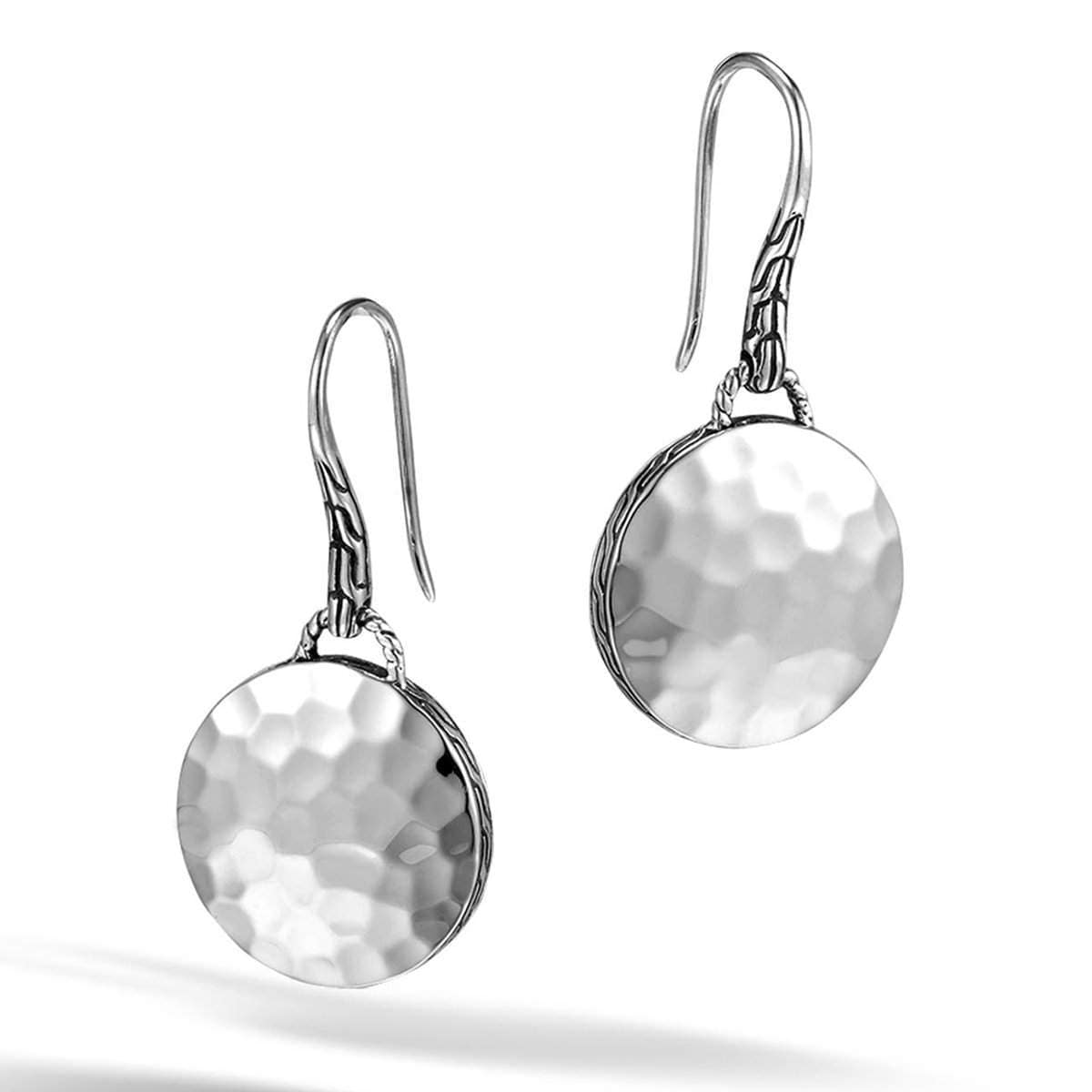 Dot Silver Round Drop Earrings - EB7154-John Hardy-Renee Taylor Gallery
