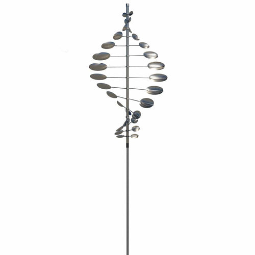 Double Helix Horizontal - Stainless Steel-Lyman Whitaker-Renee Taylor Gallery