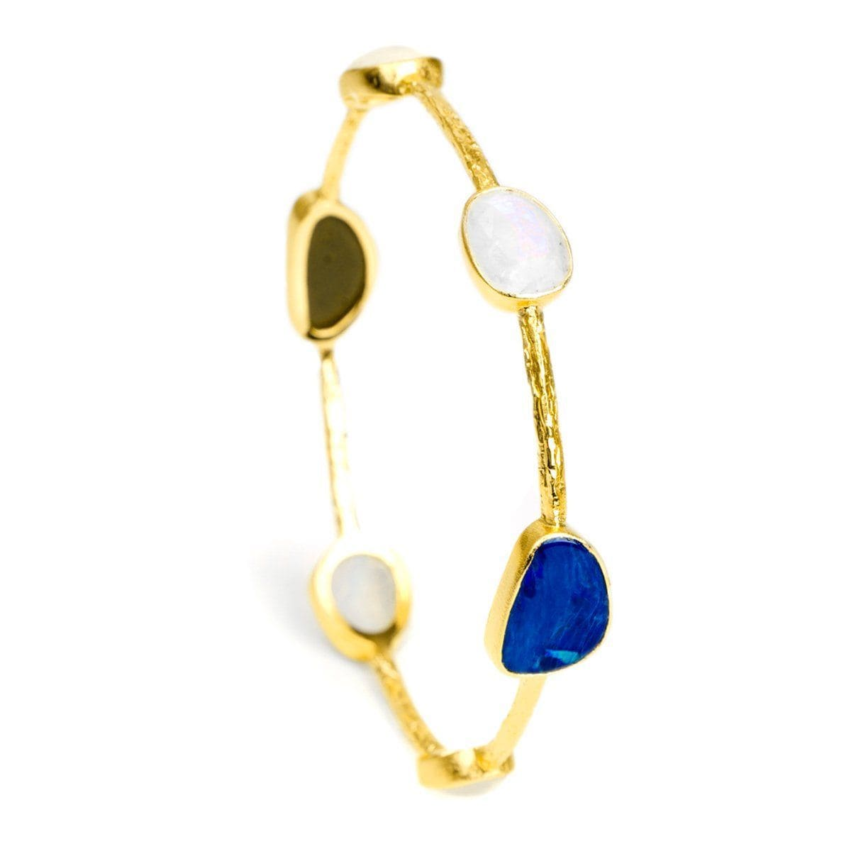 Double Trouble 22k Gold Plated Bangle - G8000B-MIX3-Nina Nguyen-Renee Taylor Gallery