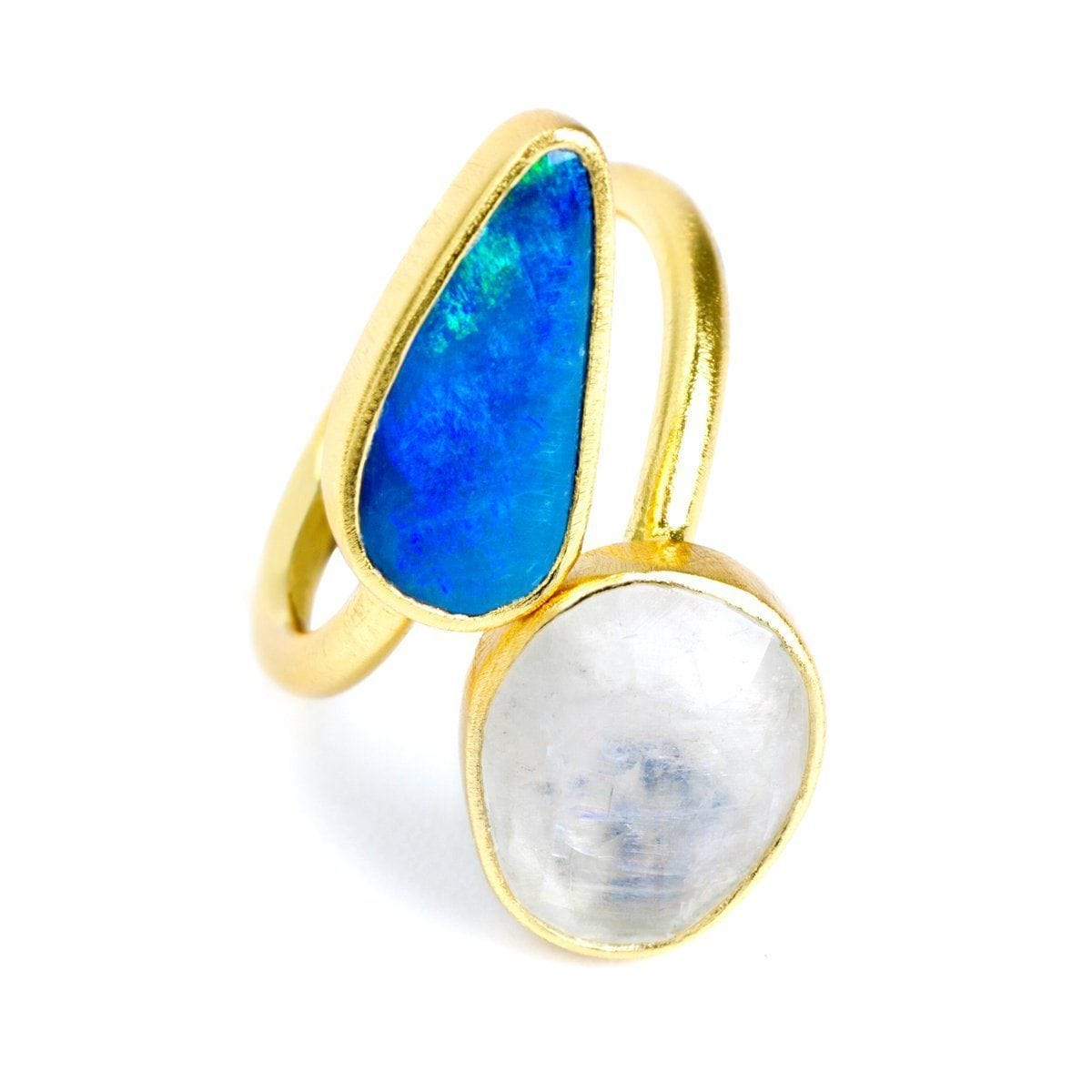 Double Trouble 22k Gold Plated with Opal Ring - G8000R-Nina Nguyen-Renee Taylor Gallery