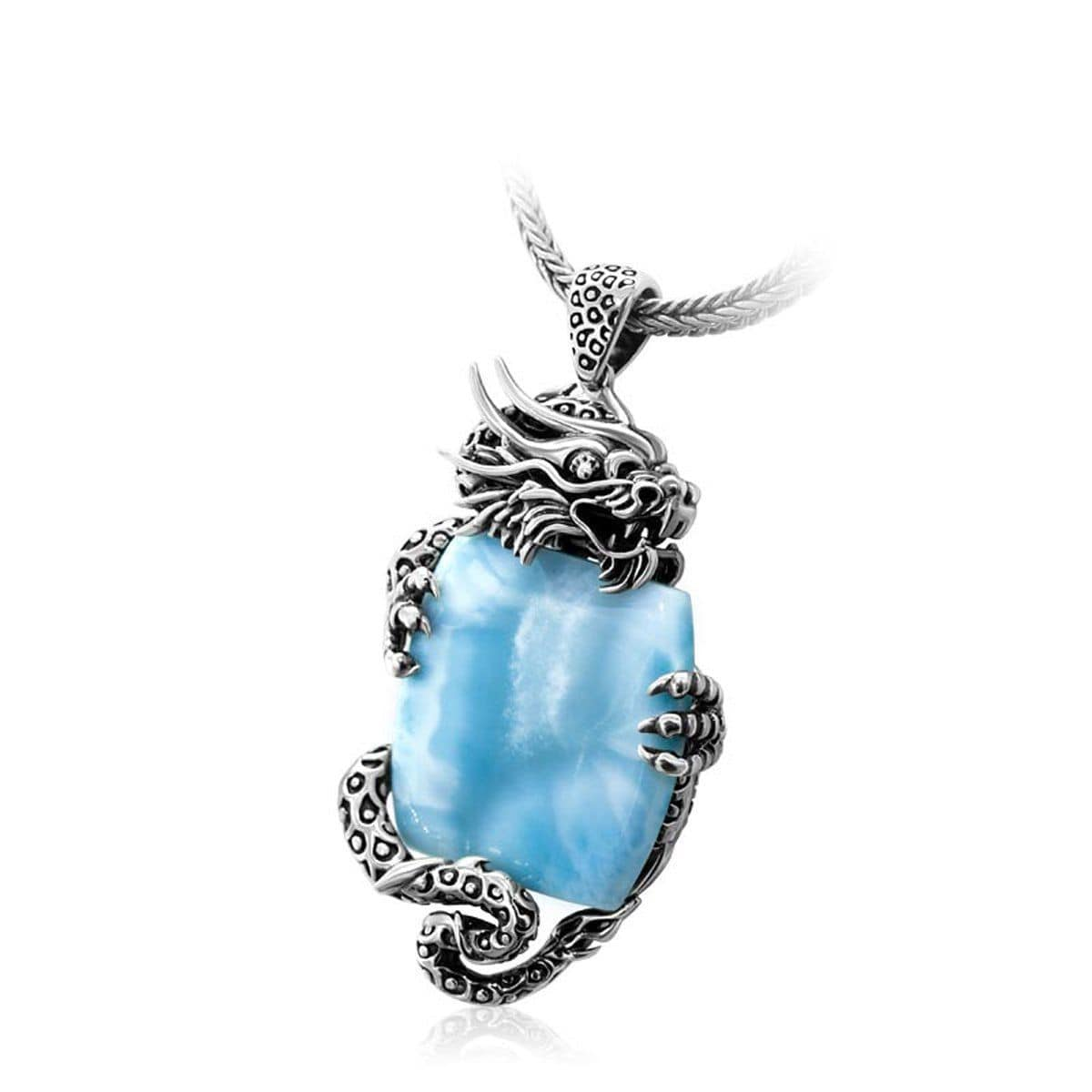 Dragon Necklace - Ndrgn00-00-Marahlago Larimar-Renee Taylor Gallery