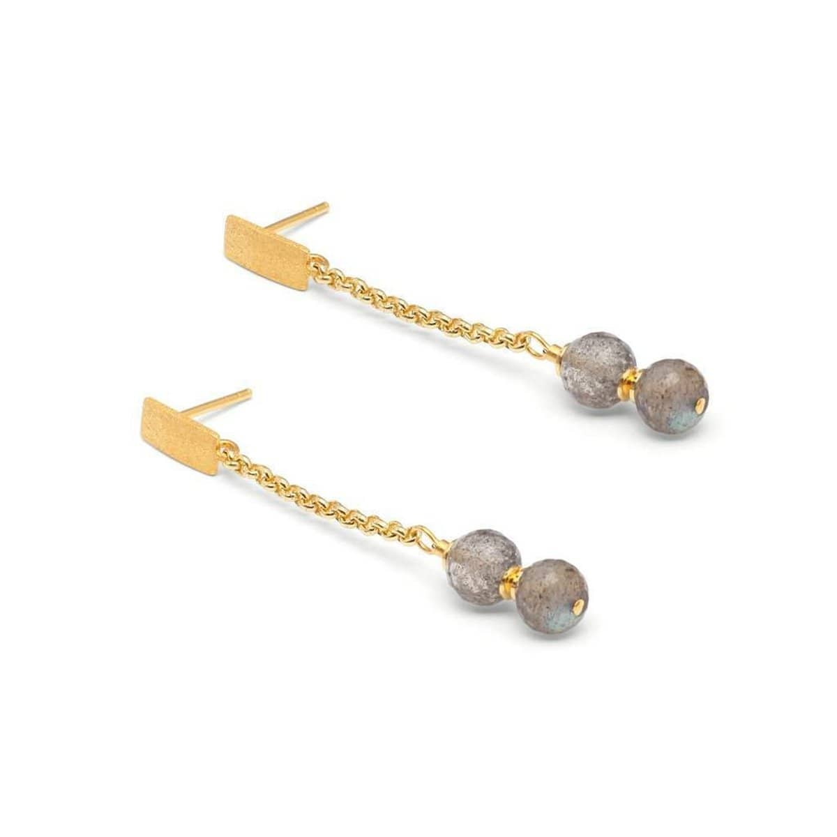 Duas Labradorite Earrings - 15578616-Bernd Wolf-Renee Taylor Gallery