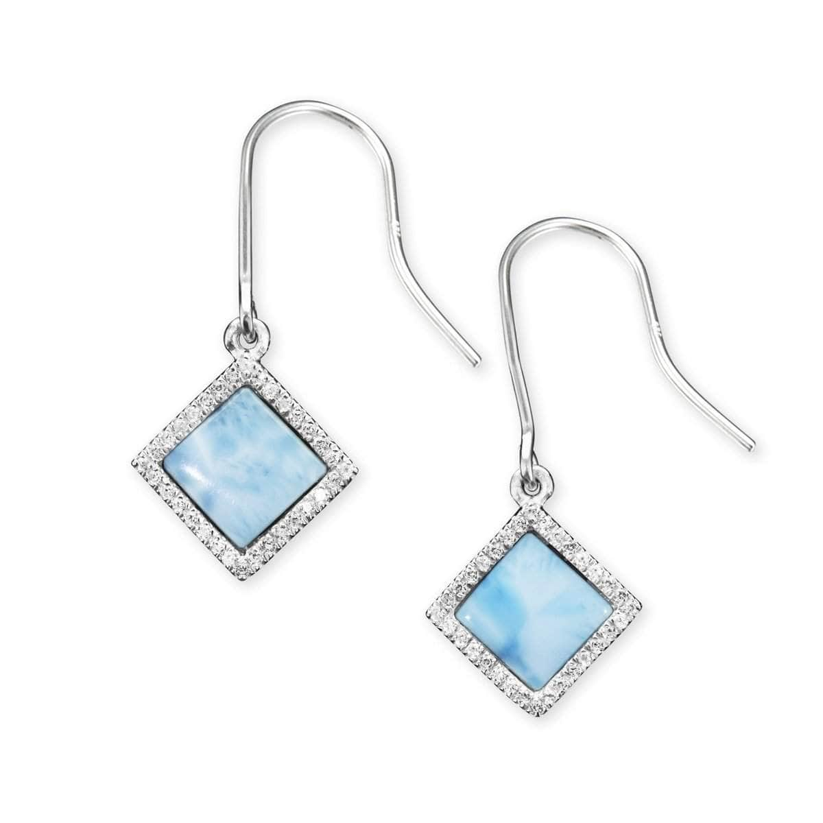 Echo White Sapphire Earrings - Eecho00-00-Marahlago Larimar-Renee Taylor Gallery