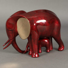 """Elephant and Baby""-Loet Vanderveen-Renee Taylor Gallery"