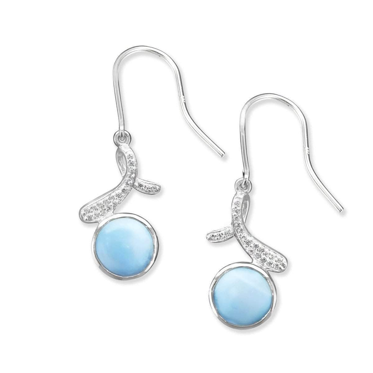 Ellie White Sapphire Earrings - Eelli00-00-Marahlago Larimar-Renee Taylor Gallery