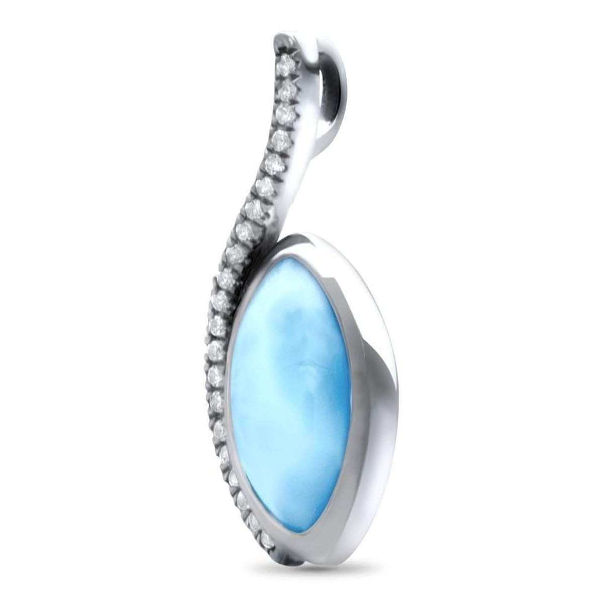 Epiphany White Sapphire Necklace - Nepip00-00-Marahlago Larimar-Renee Taylor Gallery