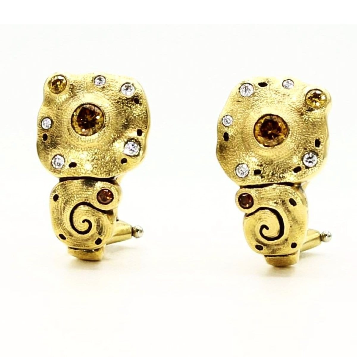 18K Evening Flowers Diamond Earrings - E-200DC