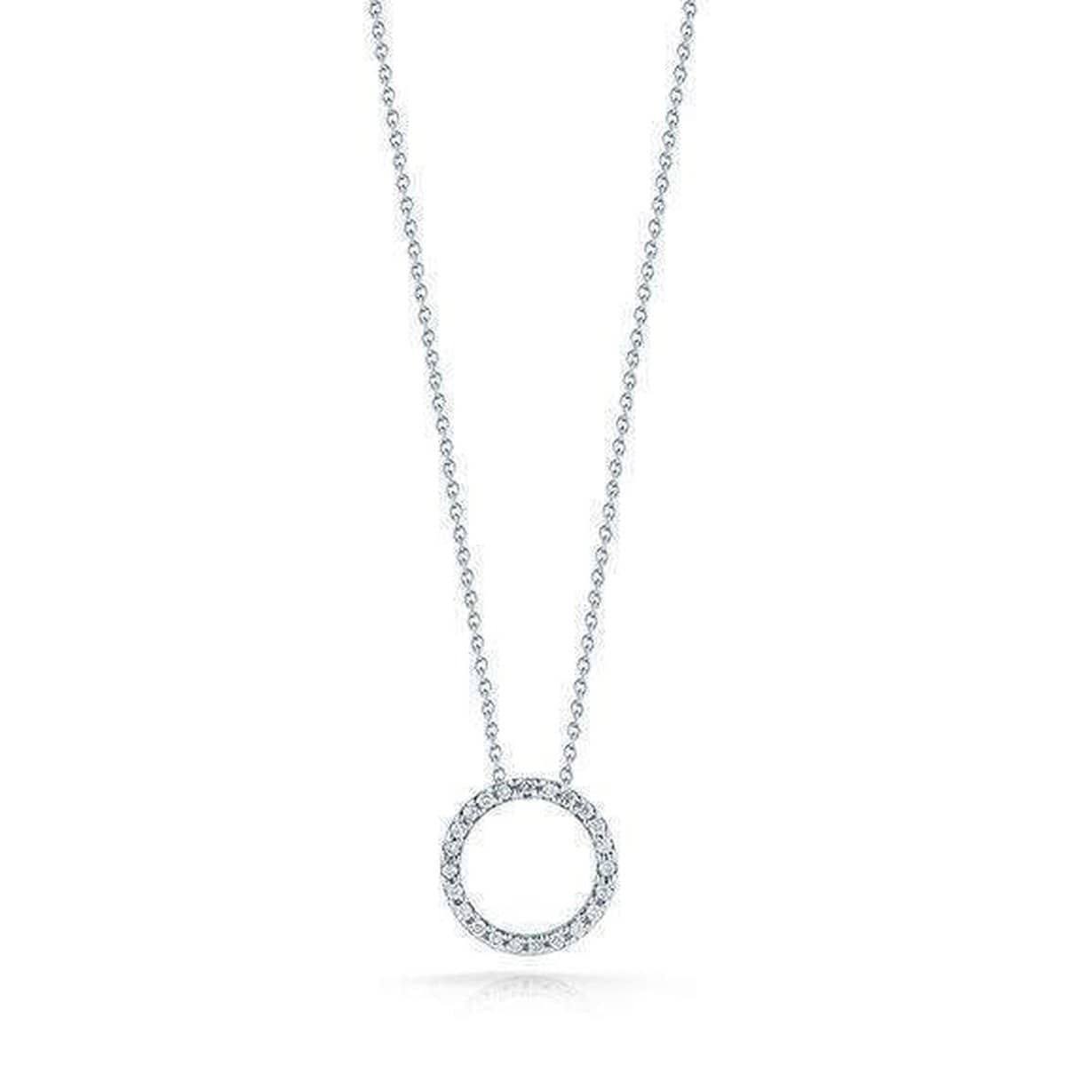 Extra Small Circle Pendant Necklace - 001258AWCHX0-Roberto Coin-Renee Taylor Gallery