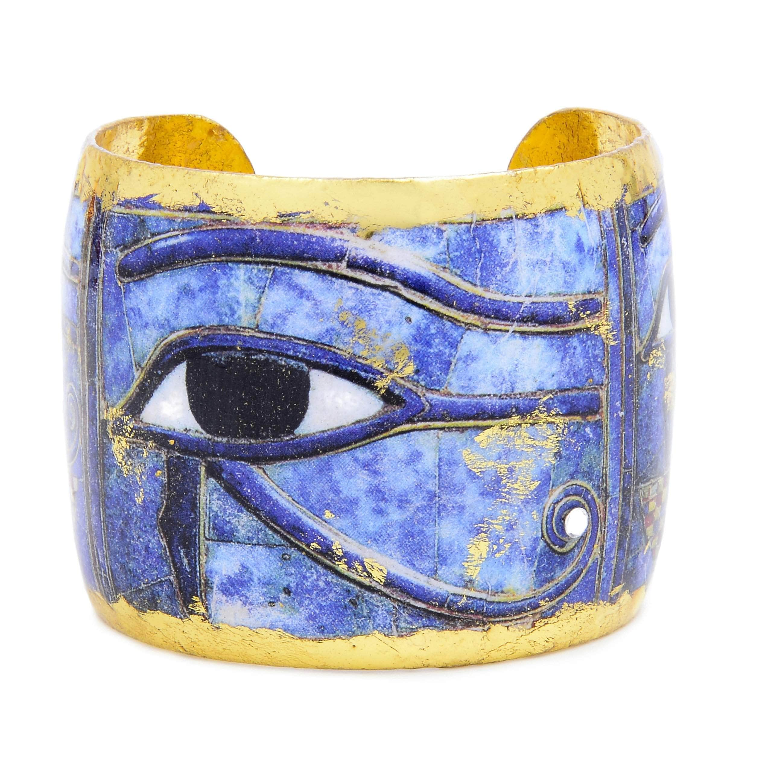 "Eye of Horus 2"" Gold Cuff - AC166-Evocateur-Renee Taylor Gallery"