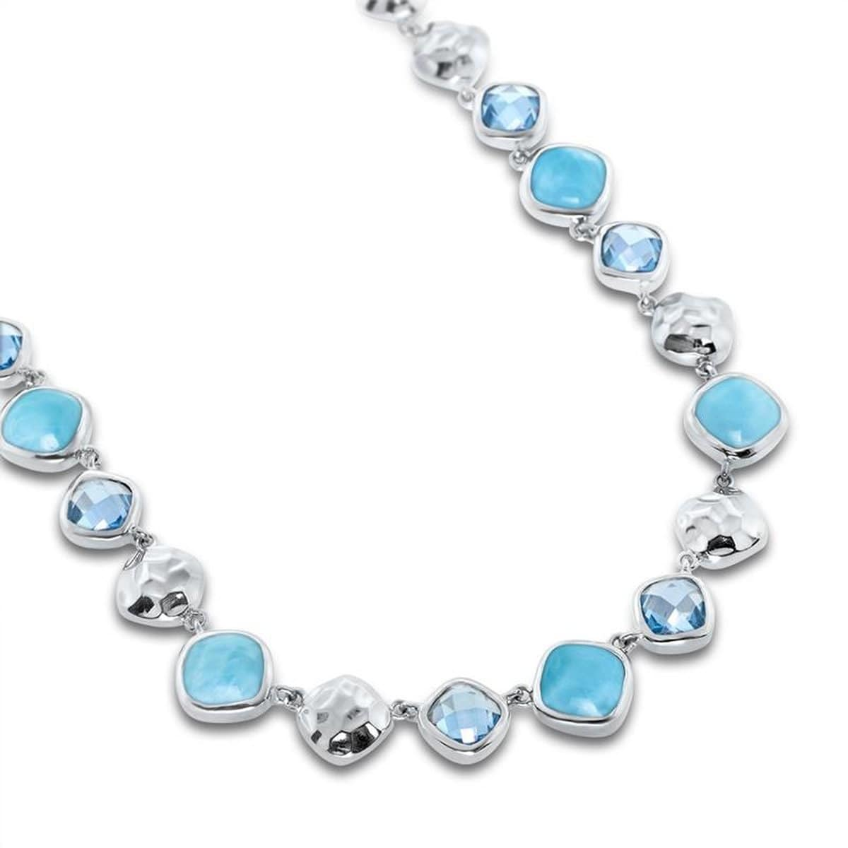 Faceta Necklace - Nface00-00-Marahlago Larimar-Renee Taylor Gallery