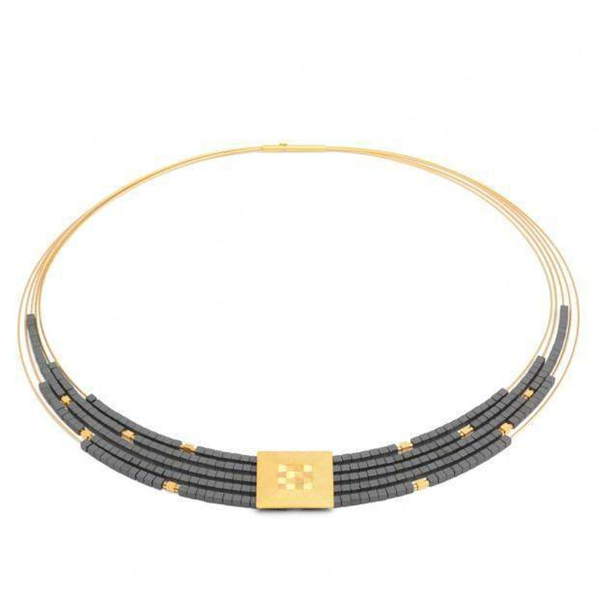 Felia Hematite Necklace - 85091276