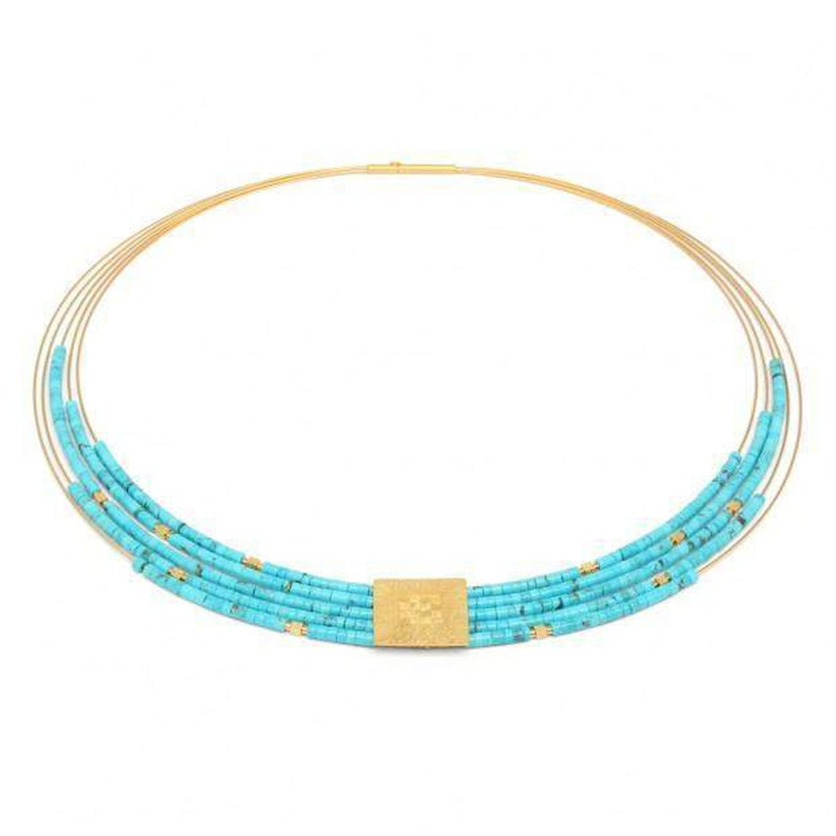 Felia Turquoise Necklace - 85091256-Bernd Wolf-Renee Taylor Gallery