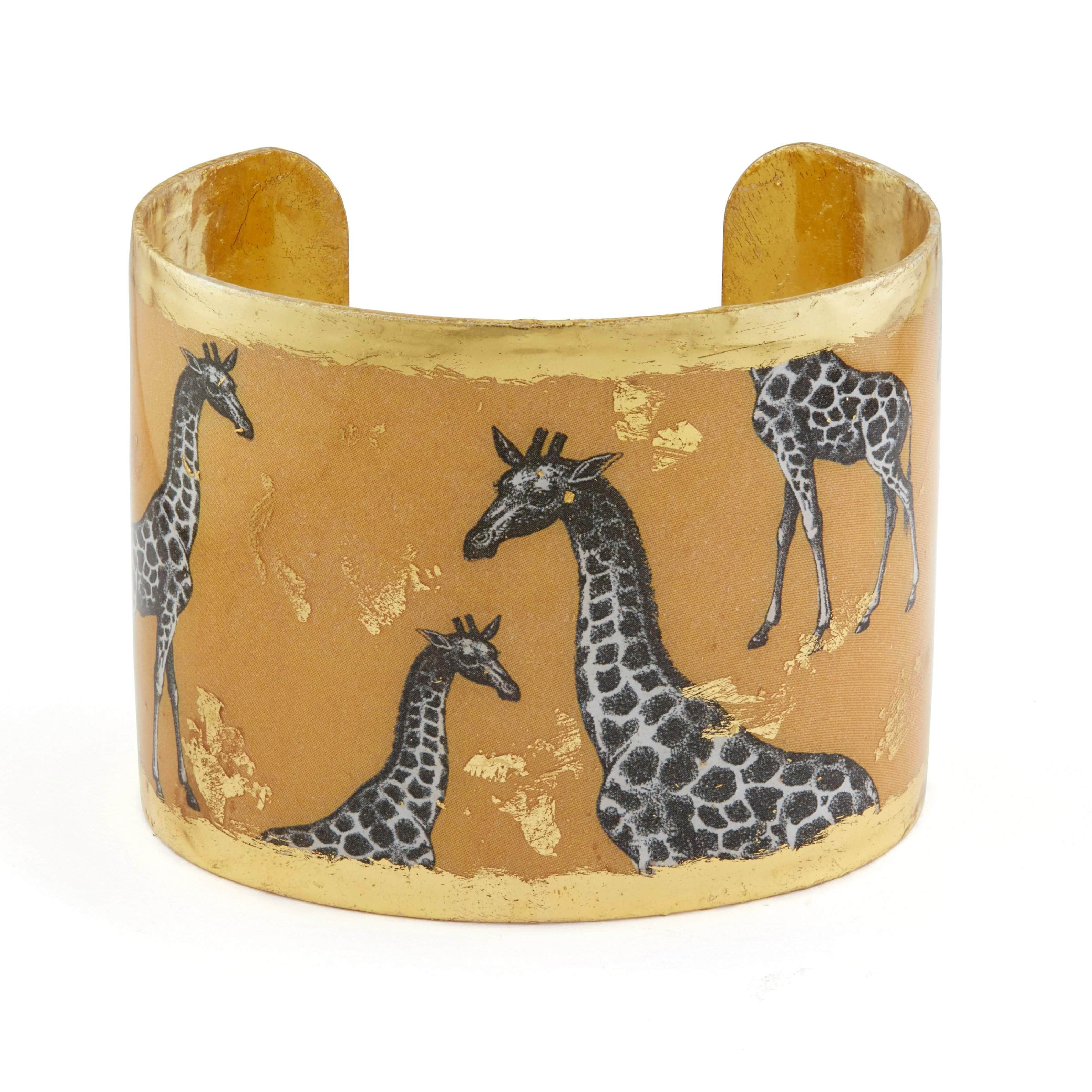 "Giraffe Dreams 2"" Gold Cuff - HS152-Evocateur-Renee Taylor Gallery"