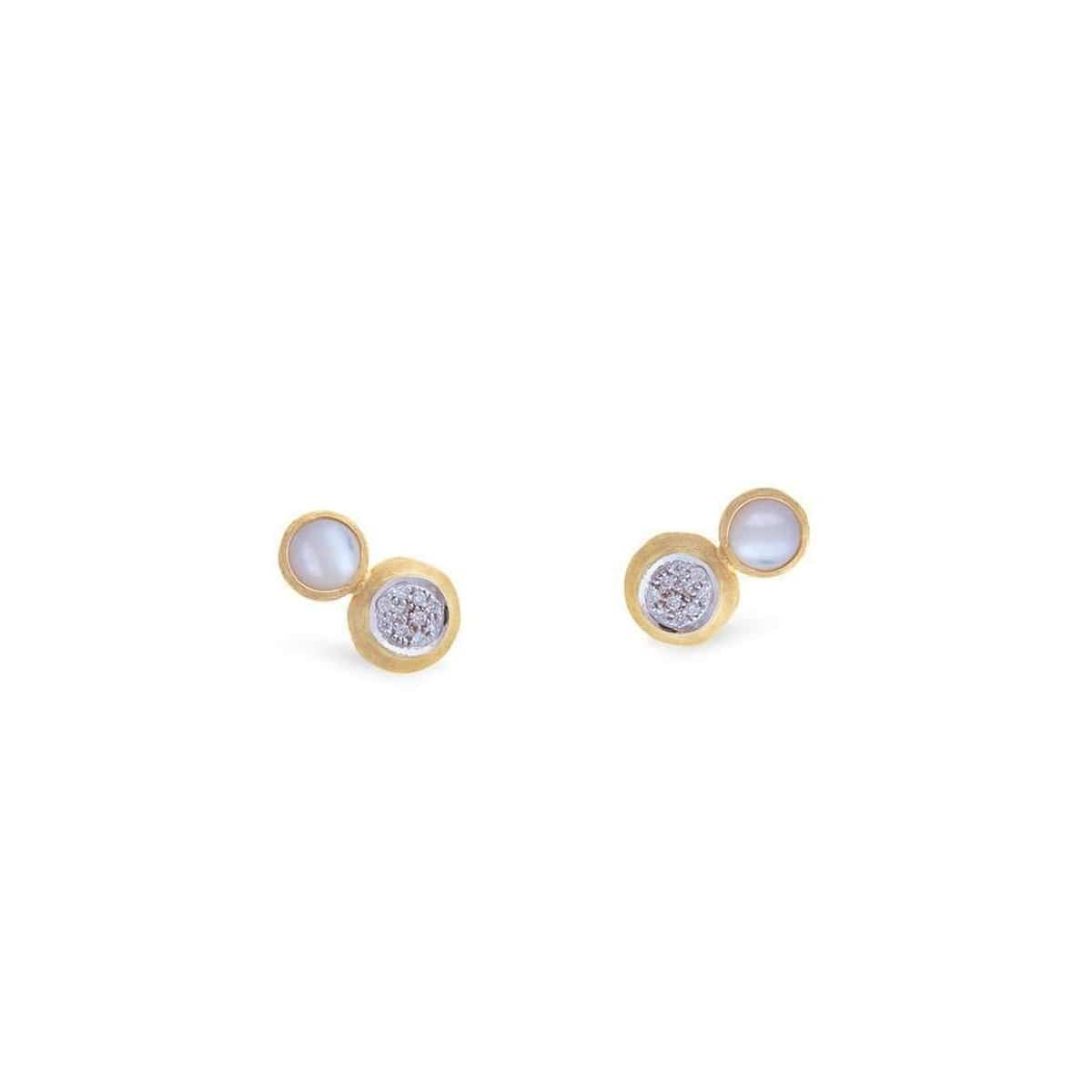 Jaipur Diamond & Mother of Pearl Stud - OB1518 B MPW YW-Marco Bicego-Renee Taylor Gallery