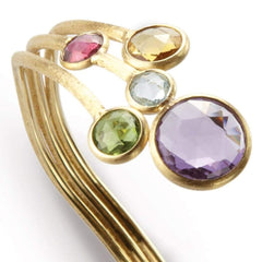 18K Jaipur Mixed Gemstone Bangle - SB51 MIX01 Y-Marco Bicego-Renee Taylor Gallery