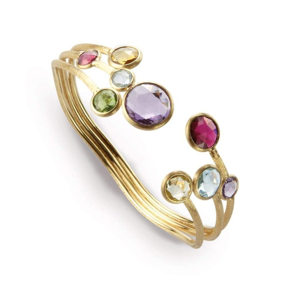 18K Jaipur Mixed Gemstone Bangle - SB51 MIX01 Y