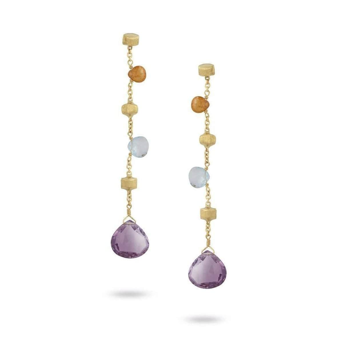 Paradise Mixed Gemstone Drop Earrings - OB1431 MIX01 Y-Marco Bicego-Renee Taylor Gallery