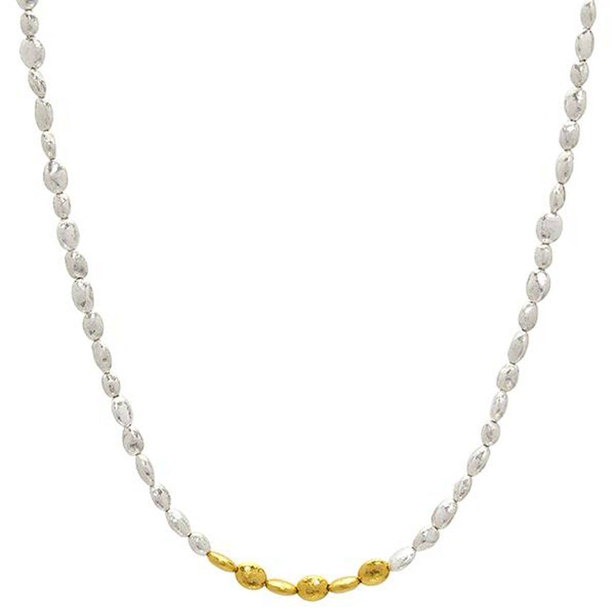Gold Nugget Necklace - SN-NGXXS-6GIF-AA-16