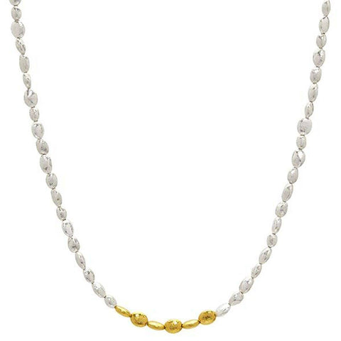 Gold Nugget Necklace - SN-NGXXS-6GIF-AA-16-GURHAN-Renee Taylor Gallery