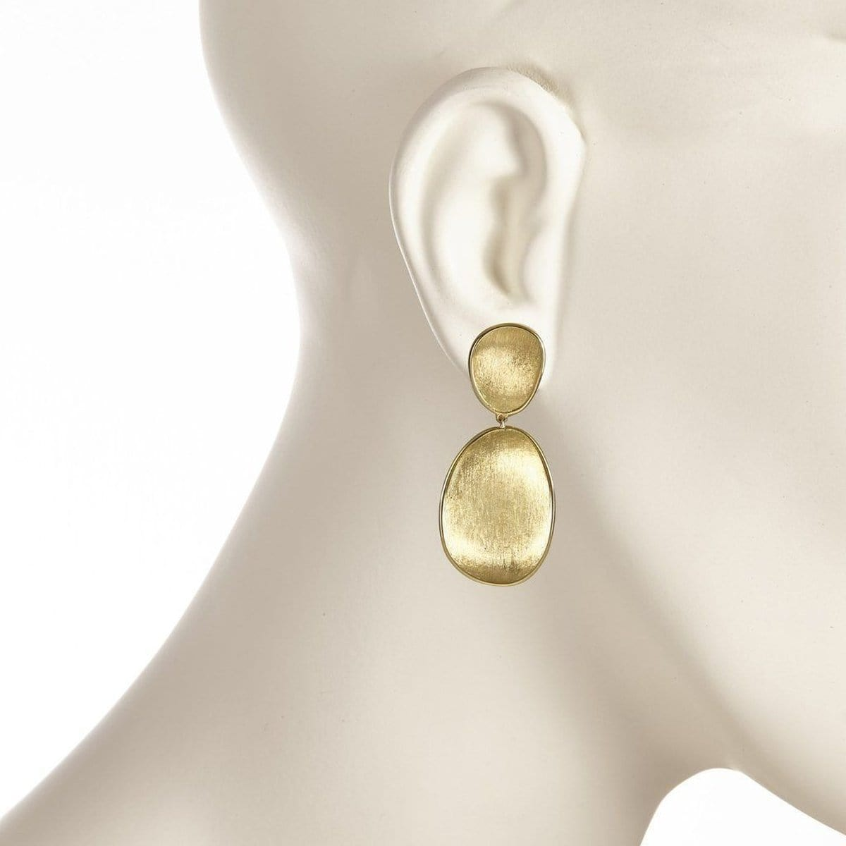 18K Lunaria Small Double Drop Earrings - OB1345 Y-Marco Bicego-Renee Taylor Gallery