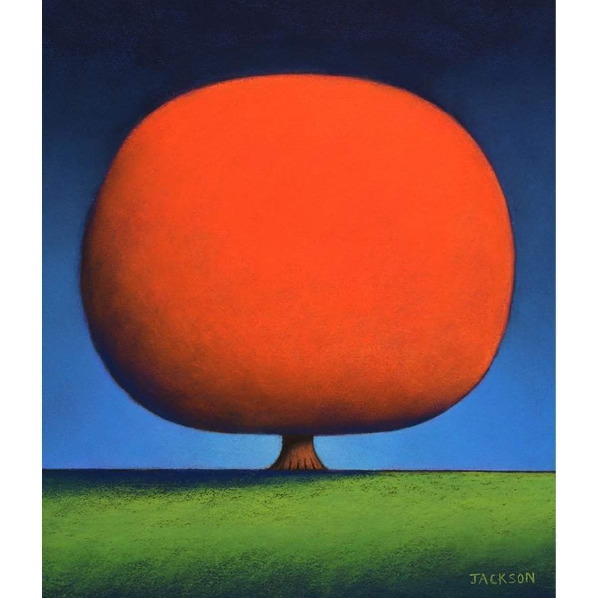 """Happy Orange Tree""-Christopher Jackson-Renee Taylor Gallery"