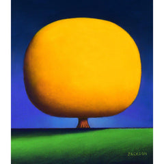 """Happy Yellow Tree""-Christopher Jackson-Renee Taylor Gallery"