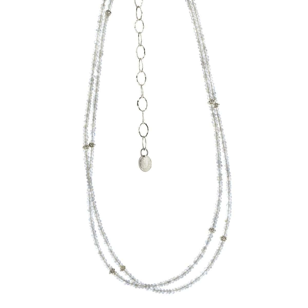 Harmony Long Sterling Silver & Labradorite Necklette - S665N-Nina Nguyen-Renee Taylor Gallery