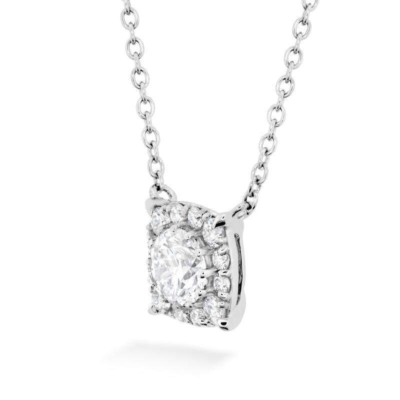 HOF Custom Halo Diamond Pendant - HFPHOFCH00258W-Hearts on Fire-Renee Taylor Gallery