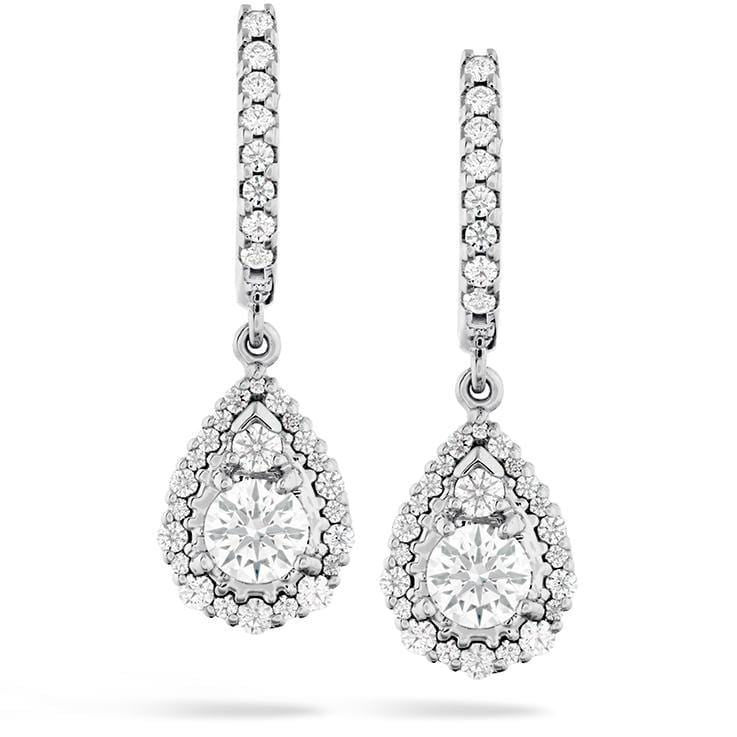 HOF Teardrop Halo Diamond Earrings - HFEHTRDH00908W-Hearts on Fire-Renee Taylor Gallery