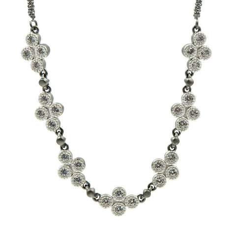 Industrial Finish 4 Points Short Chain Necklace - IFPKZN16-16E-Freida Rothman-Renee Taylor Gallery