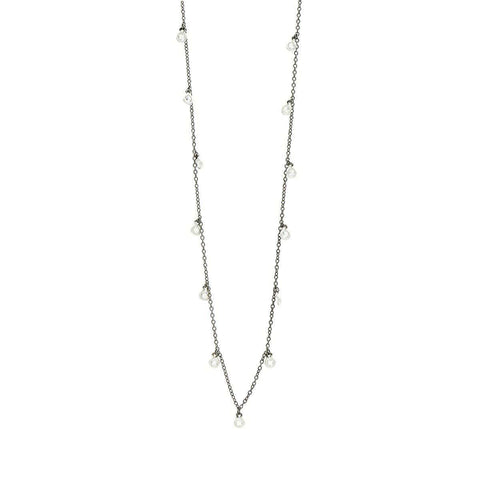 "Industrial Finish 60"" Bezel Droplet Strand Necklace - IFPKZN10-60-Freida Rothman-Renee Taylor Gallery"
