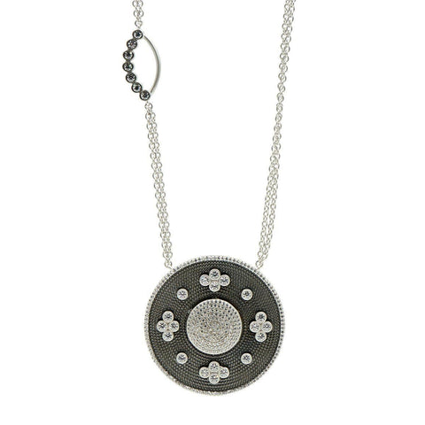 Industrial Finish Large Oval Double Sided Pendant - IFPKZN14-27-Freida Rothman-Renee Taylor Gallery