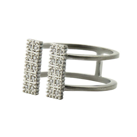 Industrial Finish Open Cuff Ring - IFPKZR09-Freida Rothman-Renee Taylor Gallery