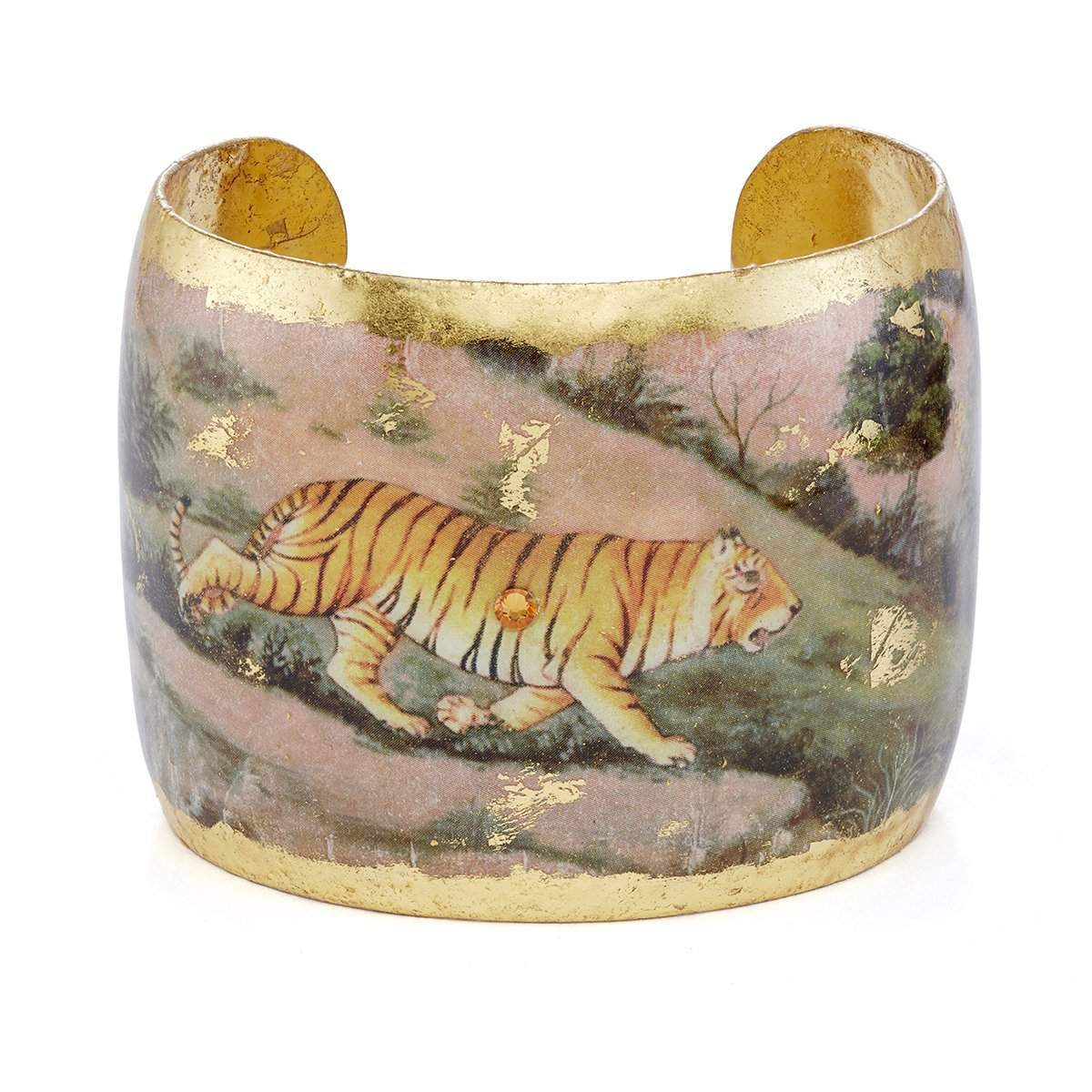 "Jaipur Tiger 2"" Gold Cuff - VO1069-Evocateur-Renee Taylor Gallery"