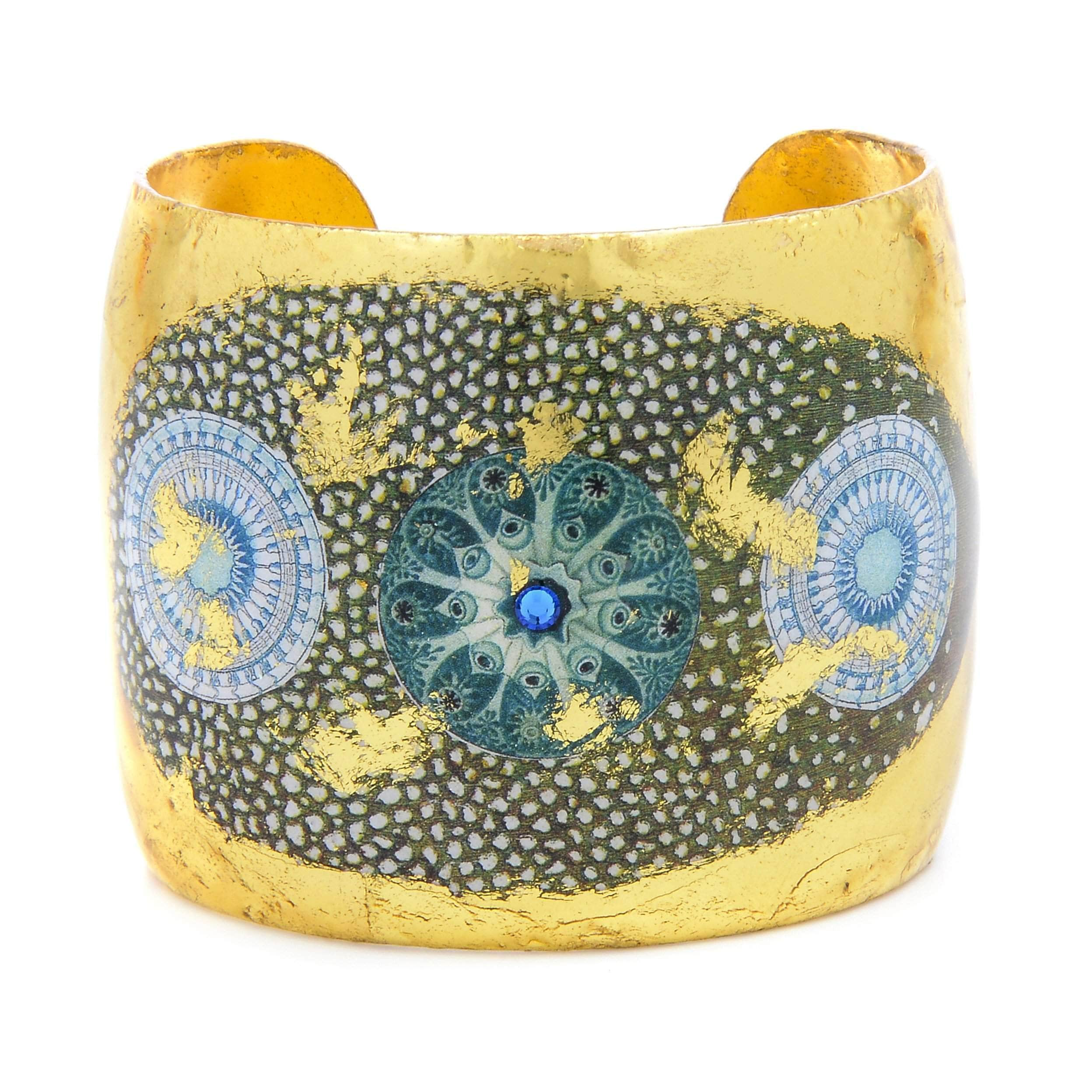 "Jellies 2"" Gold Cuff - OC122-Evocateur-Renee Taylor Gallery"
