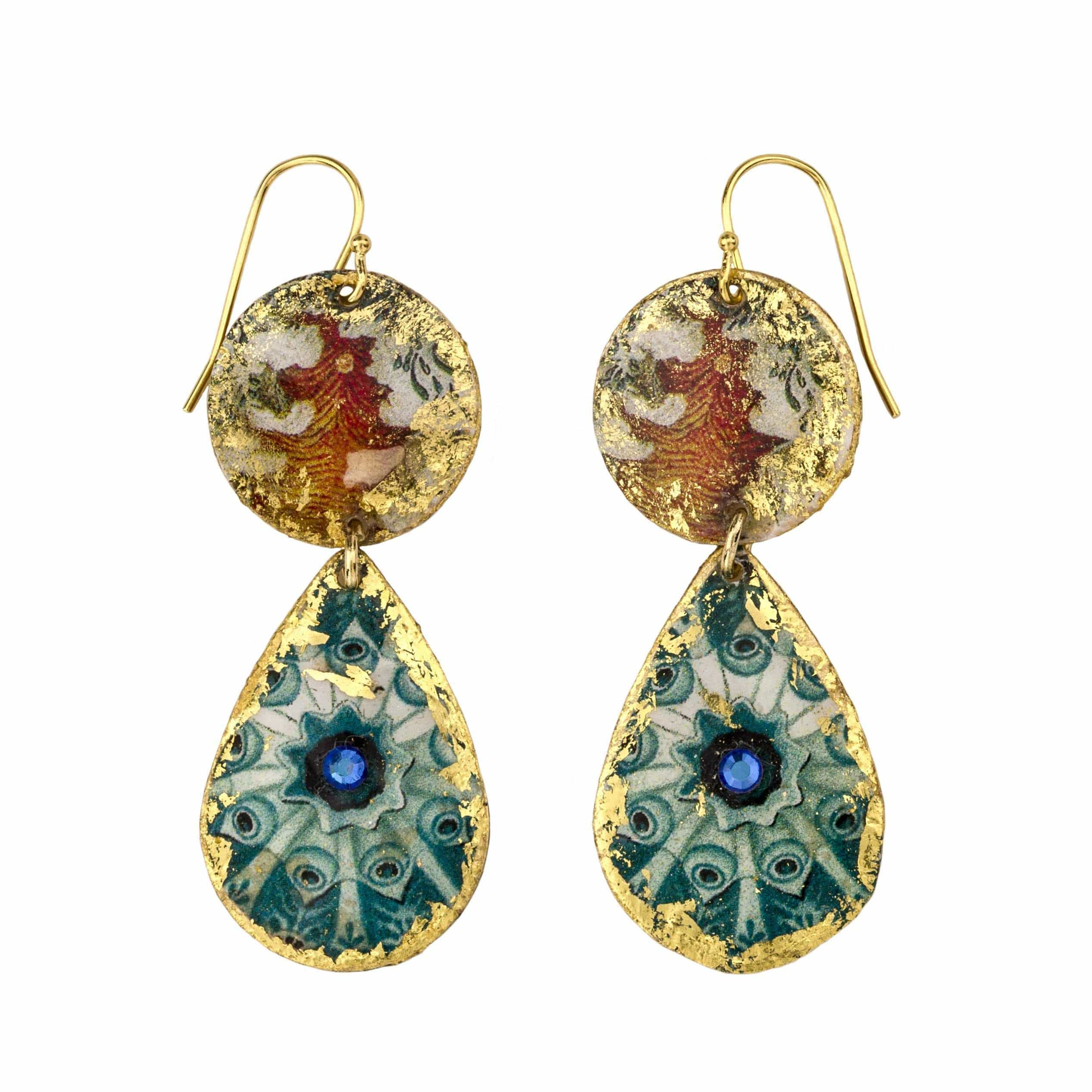 Jellies Mini Gold Teardrops Earrings - OC402-Evocateur-Renee Taylor Gallery