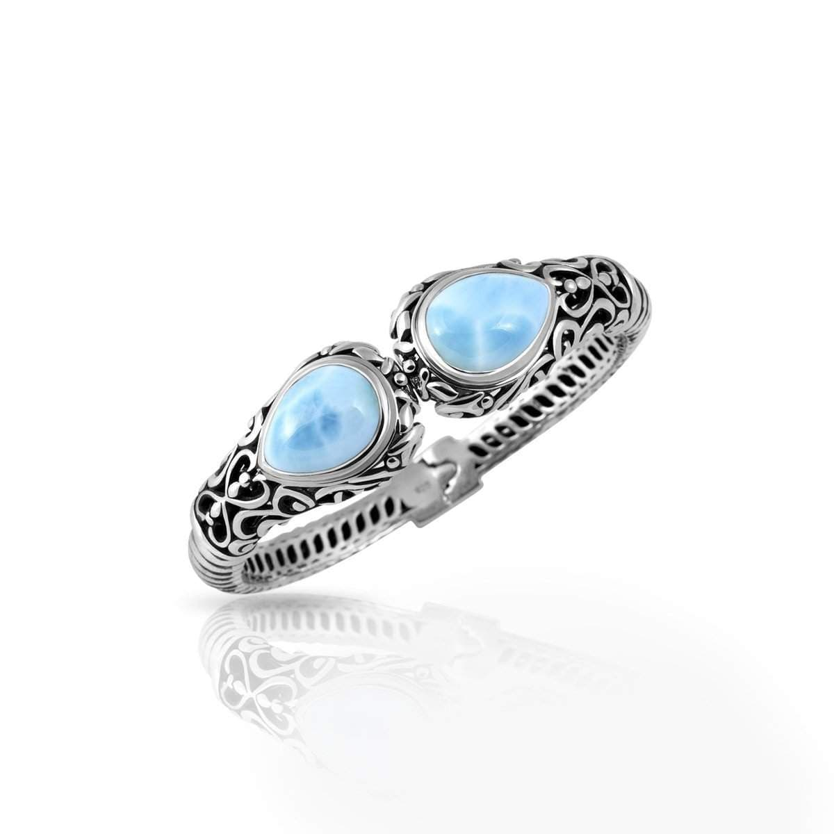 Kai Bangle- Bkai000-00-Marahlago Larimar-Renee Taylor Gallery