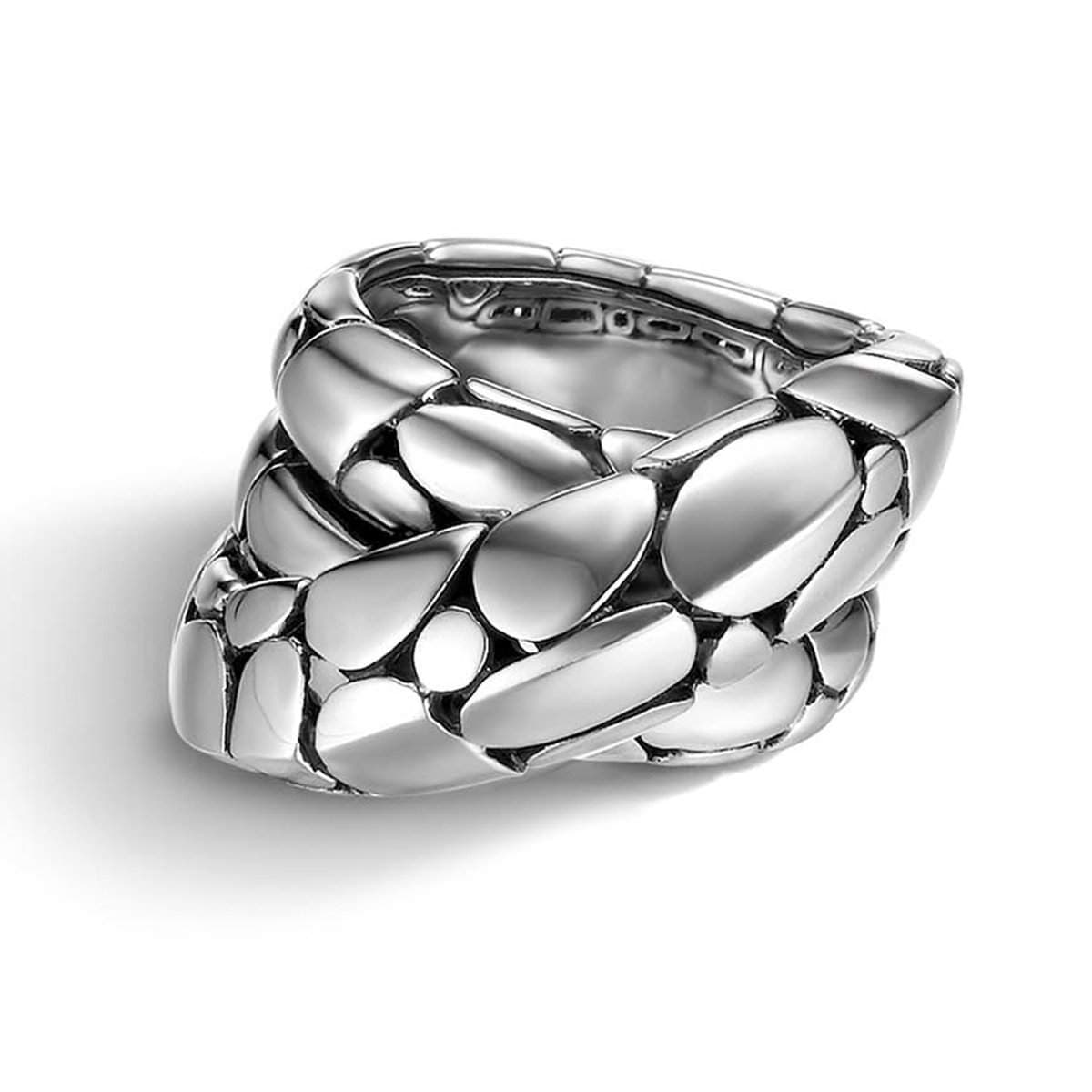 Kali Silver Twist Ring - RB2166-John Hardy-Renee Taylor Gallery