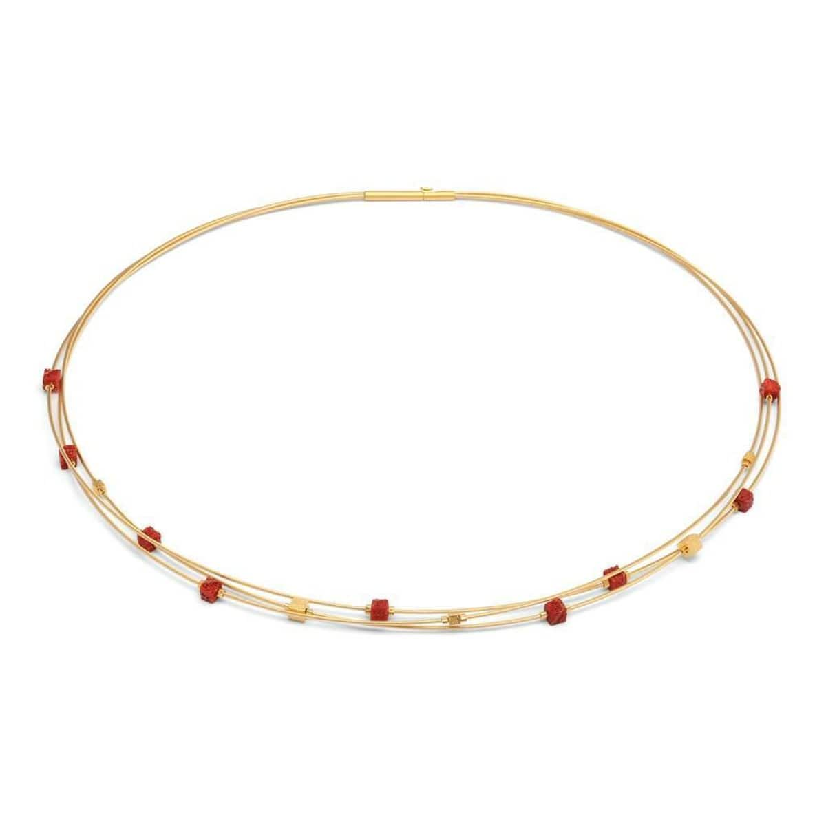 Lacuba Red Coral Necklace - 85335296-Bernd Wolf-Renee Taylor Gallery