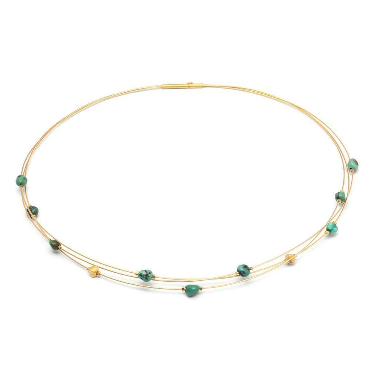 Lapona Green Turquoise Necklace - 85336356-Bernd Wolf-Renee Taylor Gallery