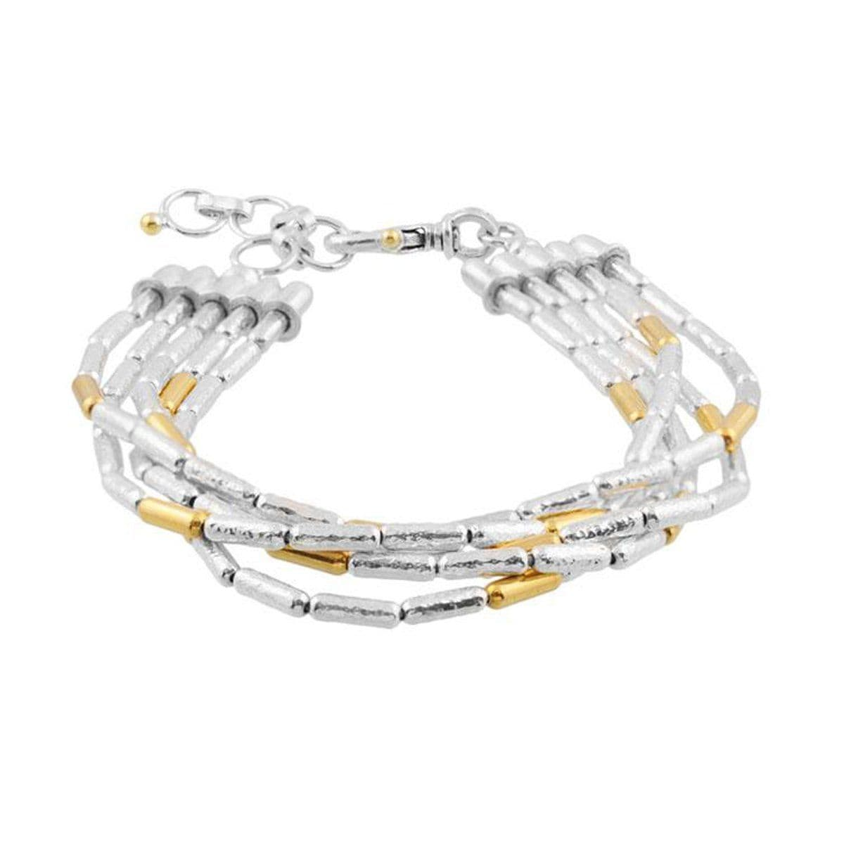 Layered Gold Bracelet  - SVB5-XS-15G-7