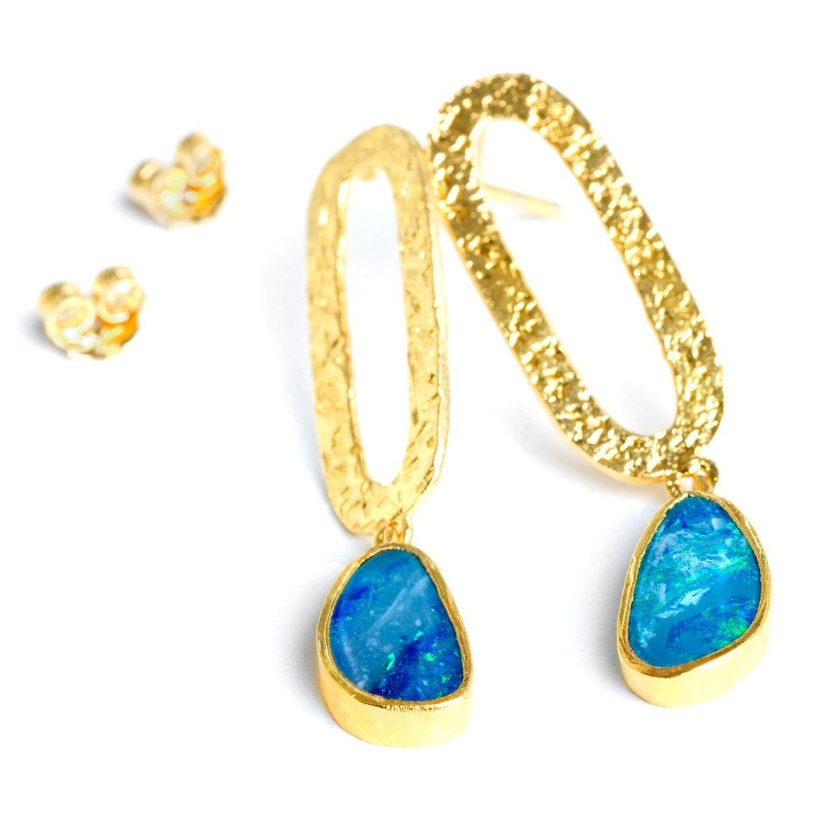 Legend 22k Gold Plated with Opal Earrings - G8012E-OPL-Nina Nguyen-Renee Taylor Gallery