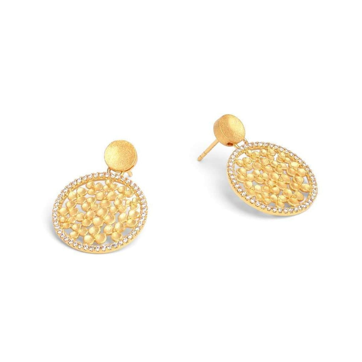 Leilana Zirconia Earrings - 15524156-Bernd Wolf-Renee Taylor Gallery