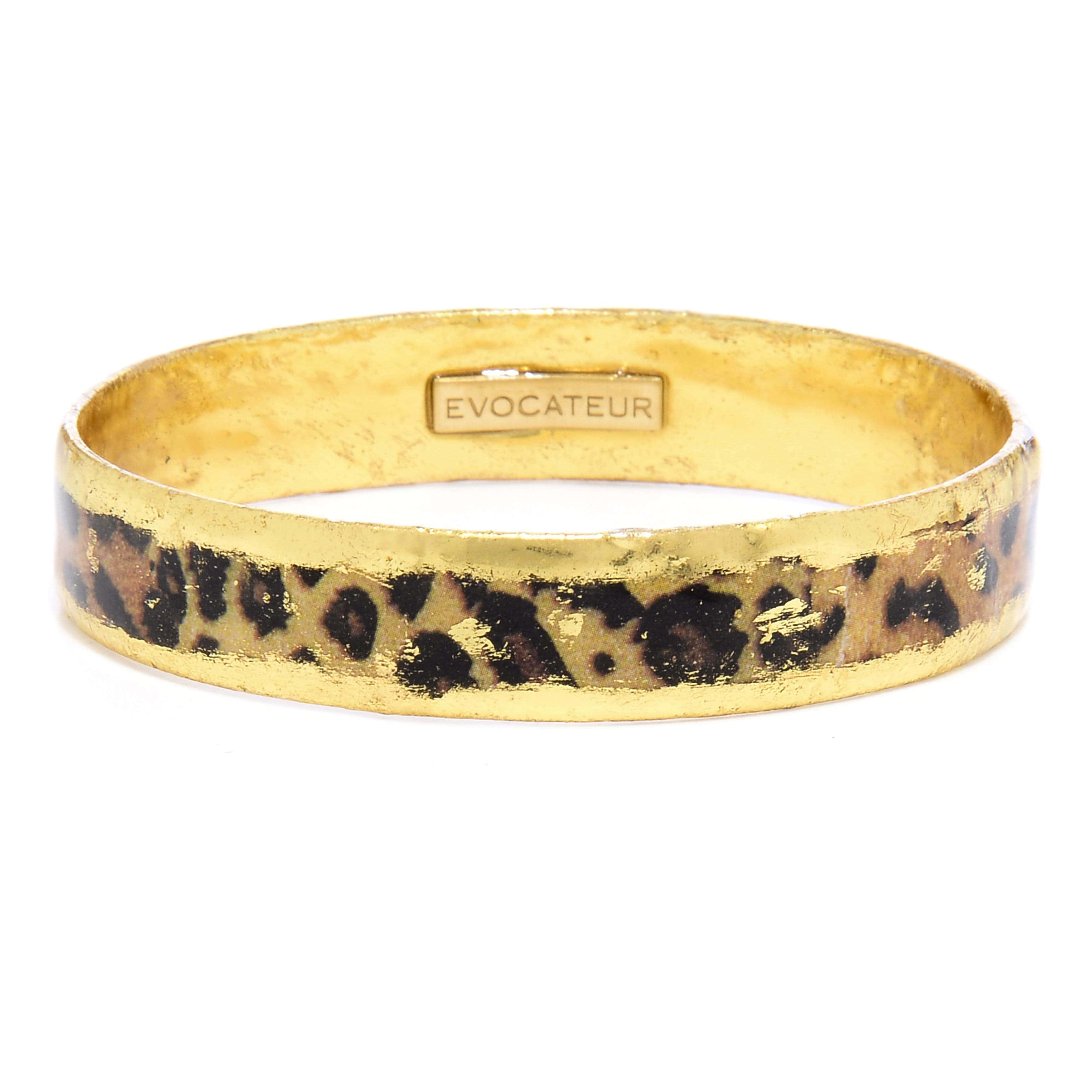"Leopard Gold .5"" Bangle - HS512-Evocateur-Renee Taylor Gallery"