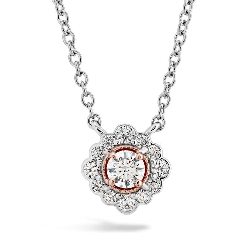 Liliana Flower Diamond Necklace - HFPLILFLWR00288-Hearts on Fire-Renee Taylor Gallery