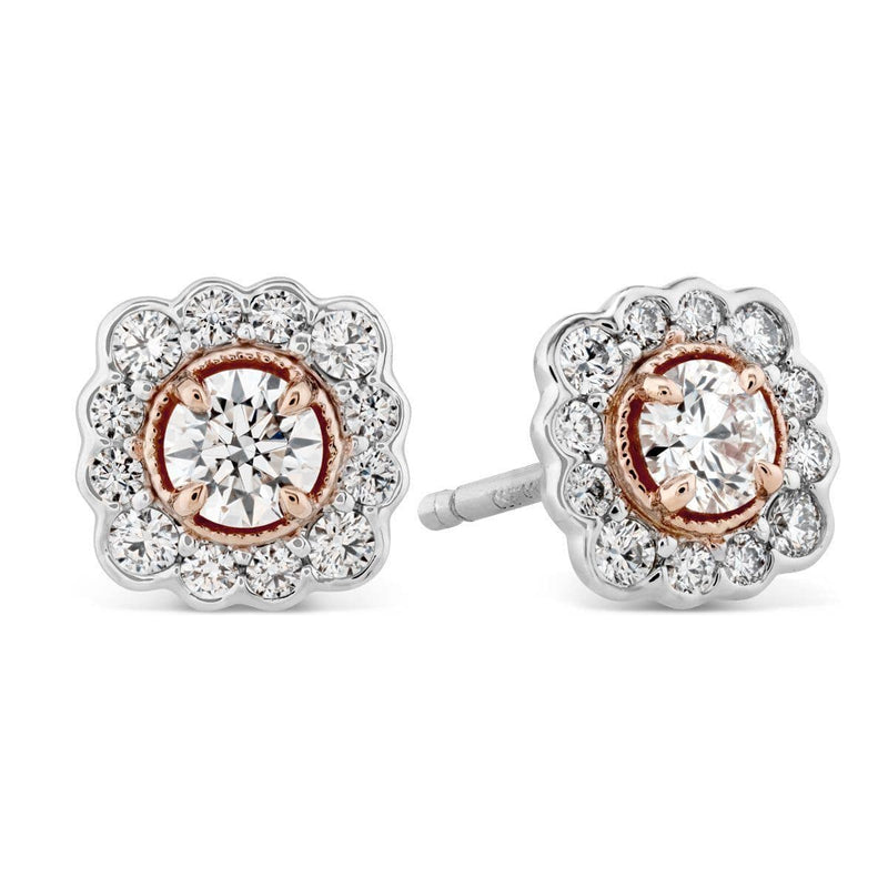 Liliana Flower Stud Earrings - HFELILFLOWR00558-Hearts on Fire-Renee Taylor Gallery