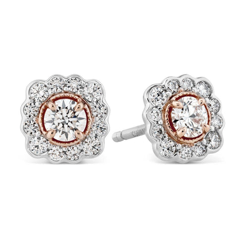 Liliana Flower Stud Earrings - HFELILFLOWR00558 - Hearts on Fire